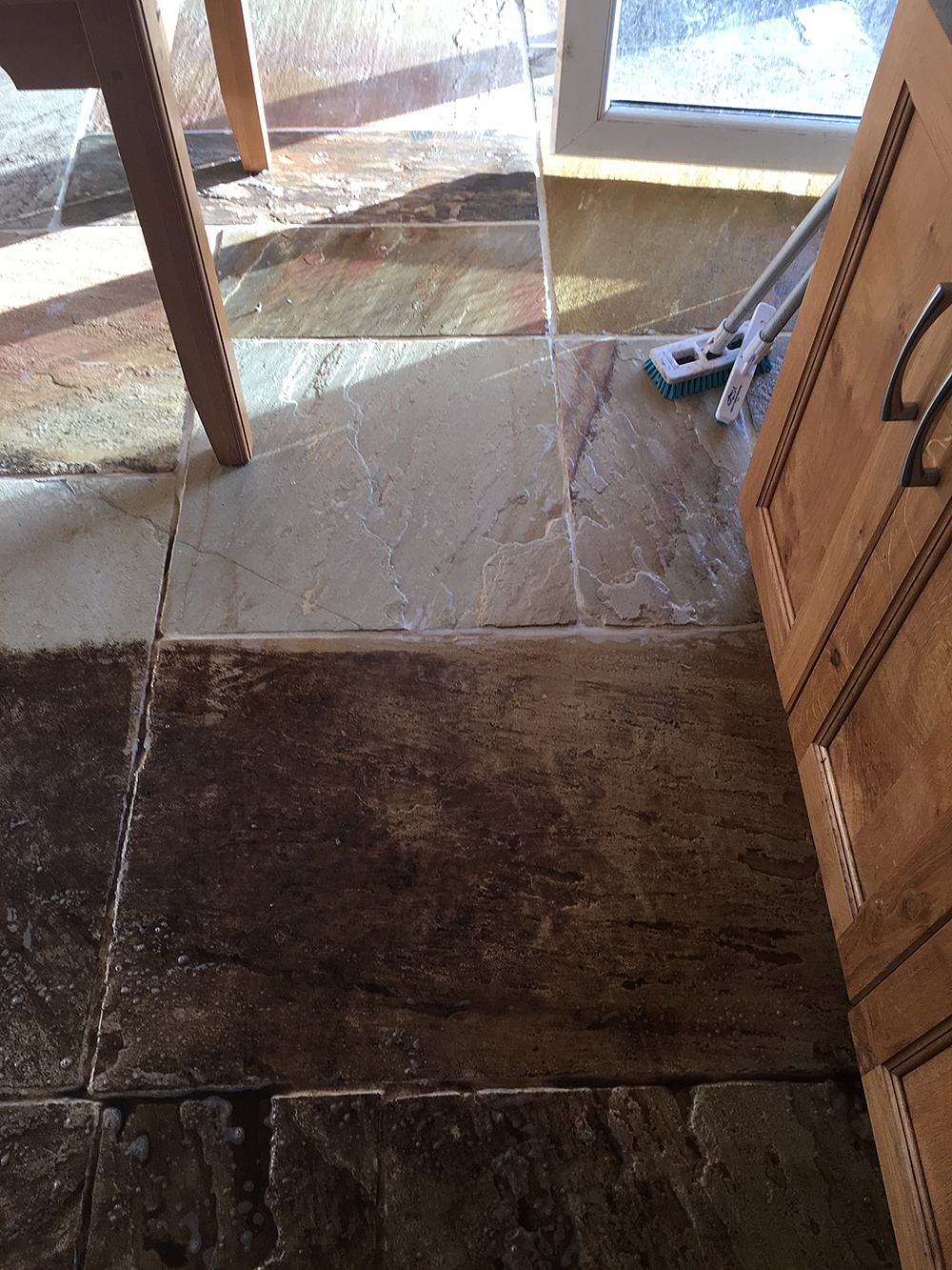 Stone Tiled Flooring Is Naturally Porous Water Collects Creating A Hazardous Slippery Surface